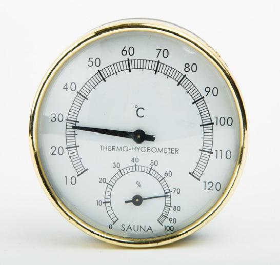 Metalik Termometre- Higrometre , Kombine