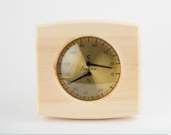 Ahşap Termometre- Higrometre , Kombine
