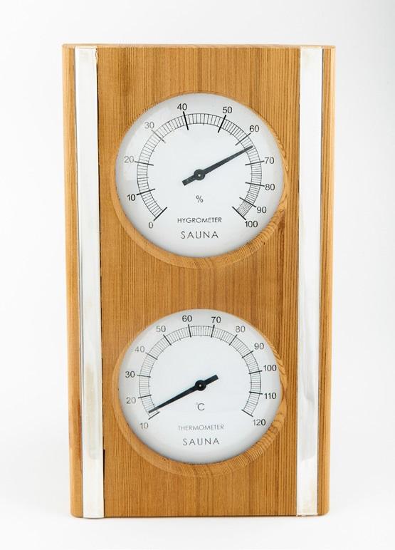 Ahşap Termometre & Higrometre , Tek Gövde 1